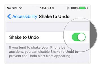 Shake to Undo