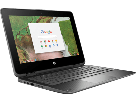 A Google Chromebook - a laptop with limited storage as it syncs with the cloud
