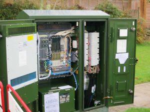 A fibre broadband enabled cabinet
