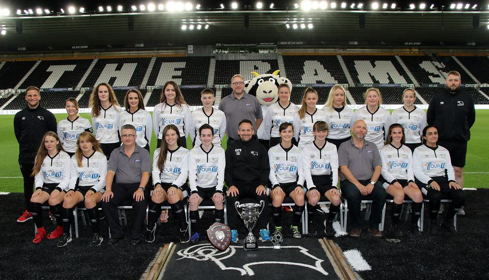 Derby County Ladies Development Squad and the Directors of the clubs official IT Partner, Your IT Department LTD