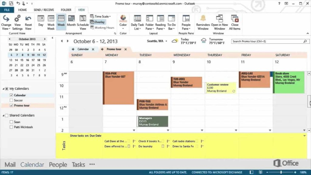 Office 365 calendar one of the best Technology Solutions to Organise Your Work Day